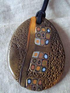 polymer clay pendant - beautiful