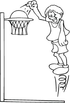 jump very high coloring pages for kids printable basketball coloring pages for kids