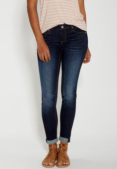 skinny jeans in dark wash (original price, $59.00) available at #Maurices