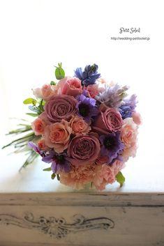 紫ブーケ purple bouquet
