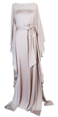 Matthew Eager Satin Chiffon Kaftan Gown :)