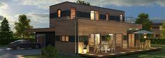 maison ossature bois C145