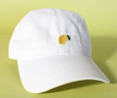 NEW Lemon Baseball Hat Dad Hat Low Profile White Pink Black Casquette Embroidered Unisex Adjustable Strap Back Baseball Cap