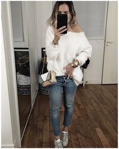"""5,762 mentions J'aime, 56 commentaires - Audrey Lombard (@audreylombard) sur Instagram : """"Tenue du jour et d'un autre jour ❄️ • Gilet Mohair// Knit #shopaudreylbd (on @shopaudreylbd) • Jean…"""""""
