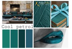 Cool petrol. Deze kleur doet het vooral goed in combinatie met verschillende bruin tinten om hem wat warmer te maken. Met industriële meubelen is deze kleur erg goed te combineren. Industriële meubelen zijn te bestellen op www.happy-home.nl