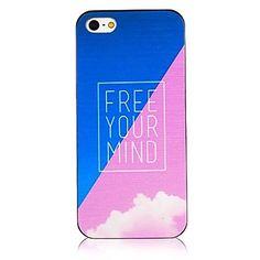 libérer votre esprit cadre noir au dos du boîtier pour iphone 5/5 ans – EUR € 1.99