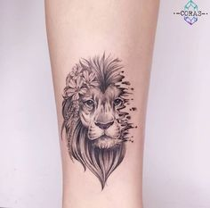 Ideas For Tattoo Ankle Lion Tatoo Lion Head Tattoos, Leo Tattoos, Forearm Tattoos, Body Art Tattoos, Hand Tattoos, Girl Tattoos, Sleeve Tattoos, Female Lion Tattoo, Leo Zodiac Tattoos