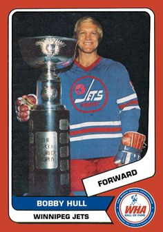 c4f6632079b Bobby Hull, Winnipeg Jets, with the World Avco Cup of the WHA