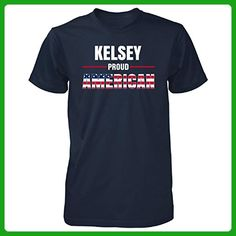 Kelsey Proud American 4th July Independence Day Gift - Unisex Tshirt Navy S - Holiday and seasonal shirts (*Amazon Partner-Link)
