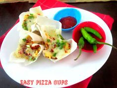 Easy Pizza Cups with 4 Ingredient Tomato Sauce   Easy Movie Snack Recipes   Spice your Life