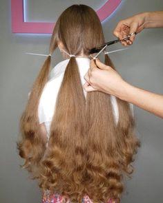 Girls Haircuts With Layers, Girls Short Haircuts, Long Hair Ponytail, Long Braids, Long Hair Cut Short, Short Hair Styles, Indian Hair Cuts, Donating Hair, Shaved Hair Women