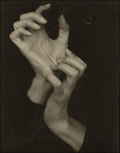 Georgia O'Keeffe (Hands), 1918. Photograph by Alfred Stieglitz.    If you look deeply into the palm of your hand, you will see your parents and all generations of your ancestors. All of them are alive in this moment. Each is present in your body. You are the continuation of each of these people. ~ Thich Nhat Hahn