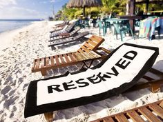"""""""Reserved"""" Beach Towel. So clever."""