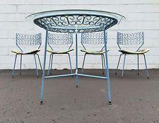 Arthur Umanoff Patio Dining Set Table & Chairs Mid Century Modern Salterini