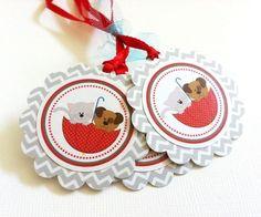 Puppy and Kitten Gift Tags in Chevron @adorebynat #bmecountdown