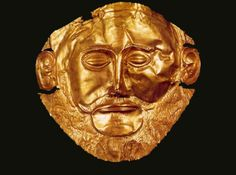 Ancient Artifacts - Mask of Agamemnon Mycenae, Trojan War, History Page, Greek Jewelry, Ancient Artifacts, Military History, Troy, Mythology, Lion Sculpture