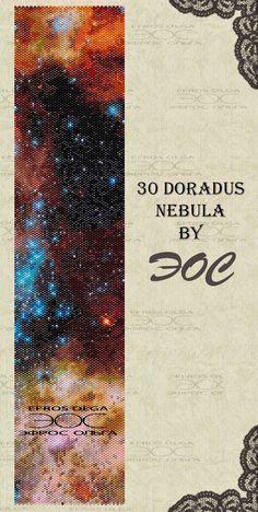 Peyote Bracelet Pattern 30 Doradus Nebula  peyote pattern by Eos