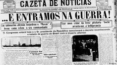 Gazeta de Notícias anunciando o Brasil na I Guerra Mundial em outubro de 1917
