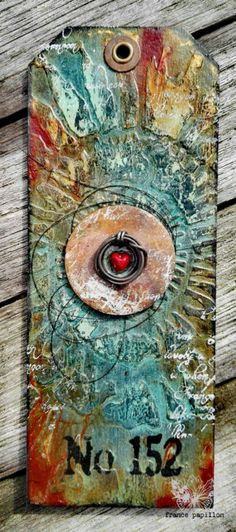 Mixed media tag created by France Papillon - featured on Two Friends' Favorite Blog Posts (Marjie Kemper)