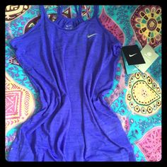 Nike Top Gorgeous lavender color. Can be worn at the gym or lounge. Dri-Fit. 100% New. Never worn. Nike Tops Blouses