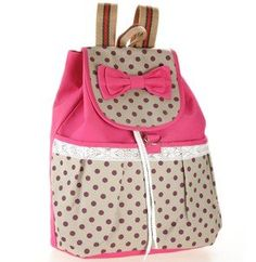 Girl's Lovely Sweet Bowknot Leisure Canvas Backpack for Student (Rose) - Click image twice - See a larger selection of little girls backpacks at http://kidsbackpackstore.com/product-category/little-girls-backpack/ - kids, juniors, back to school, kids fashion ideas, school supplies, backpack, bag , teenagers, girls, boys, gift ideas