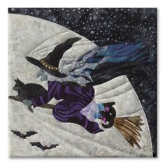Witchy-Poo block, in the Halloweenies quilt by McKenna Ryan