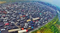 China has some of the most insane traffic jams on this planet. World's worst traffic jam? Thousands of cars left stranded on motorway in China.