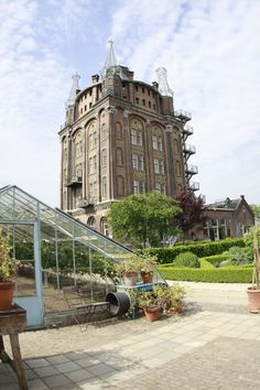 Villa Augustus, Dordrecht. An amazing building once abandoned, but now a restaurant, market, hotel and garden, great place to eat and for inspiration for home and garden!