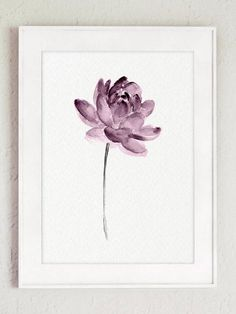 Lotus Watercolor Flower set of 3 Purple Flowers. Minimalist Floral Art Print Bedroom Wall Decor. Purple Floral Anniversary Gift Idea Painting. Living Room Flowers Illustration. A price is for the set of three Lotus Art Prints as in the first Picture. Type of paper: Prints up to