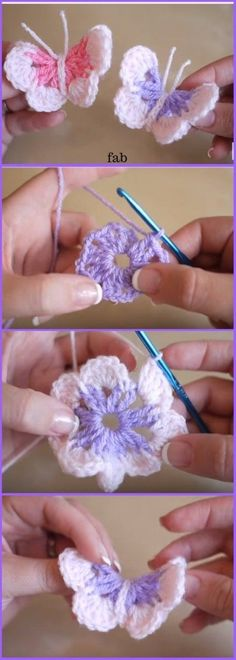 DIY Crochet 3D Butterfly Free Pattern-Video