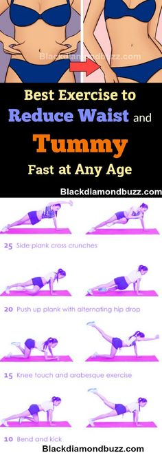 est Exercise to Reduce Waist and Tummy Fast at Any Age in 7 days : Get Slim Waist, Bigger Hips, & Flat Stomach fast.