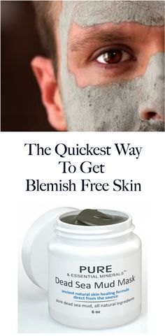 For clean, clear skin, free of acne, blemishes and excess oils, a men's skin care routine must include a facial mud mask from the Dead Sea! http://www.amazon.com/Dead-Facial-Mask-BONUS-EBOOK/dp/B00C8YCFU4/