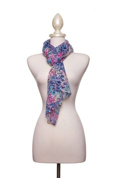 Dressing Your Truth - Type 2 Watercolor Scarf in Blue