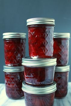 finished plum cardamom jam