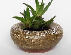 Handmade Ceramic Planter (Crackle Glaze) / Pottery Succulent Planter/  Stoneware Planter/ Plant Pot / Air Plant Pot /  Indoor Planter by MasamisCeramics on Etsy