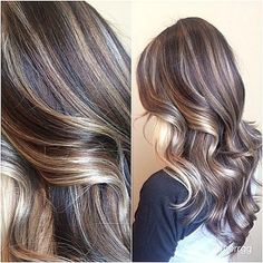 Balayage Blonde Ends - 20 Fabulous Brown Hair with Blonde Highlights Looks to Love - The Trending Hairstyle Brown Hair With Blonde Highlights, Hair Highlights, Chunky Highlights, Caramel Highlights, Ombré Hair, Hair Dos, Pelo Cafe, Non Blondes, Latest Hair Trends