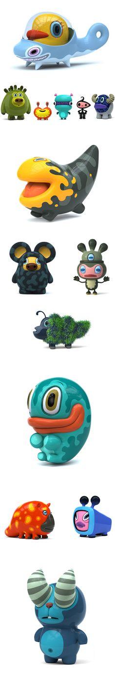 magnifiques mascottes 3D d'Hiroshi Yoshii