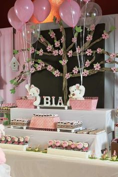 Pink and brown themed party for girls Birthday Party Ideas | Photo 1 of 21 | Catch My Party