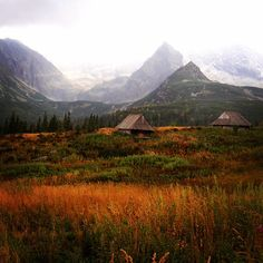 Chalets in Hala Gasienicowa, High Tatras, #Poland #travelphotography #travel #landscape #explore #exploringtheglobe #instatraveling #insta_exporing #Slovakia #mountains #natgeotravelpic #nature # allthingseurope