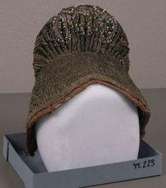 Headdress, Beads; embroidery, The Elizabeth Day McCormick Collection, 44.225.