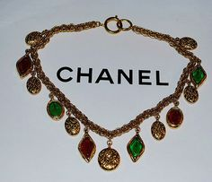 Authentic Chanel Vintage Red and Green Gripoix by PurseAngels, $1798.00