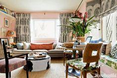 Long, skinny, custom made pillow | Interior Designer: Peter Dunham