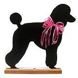unique Poodle Breed Chalkboard is a whimsical and high quality decorative accent for the home of any cat and dog lover, Accented with a colorful ribbon