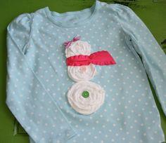 SALE - Snowman Applique Tshirt - 12 M Last One