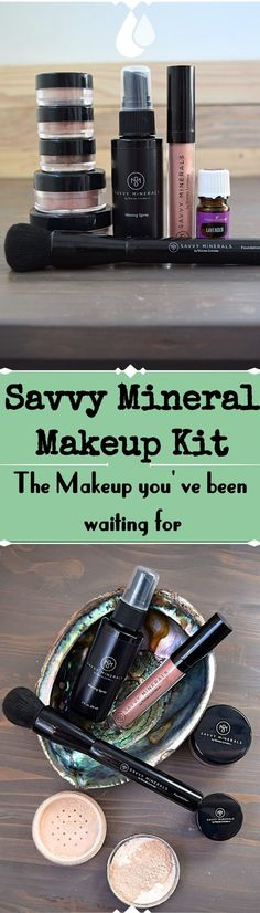 The Savvy Minerals Makeup kit from Young Living - Chemical free makeup and why you need it
