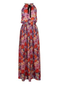 This Pink Purple Floral Halter Maxi Dress by Uttam Boutique is perfect! Halter Maxi Dresses, Dress Skirt, Latest Fashion For Women, Womens Fashion, Fashion Deals, Maxis, Special Occasion Dresses, Fashion Boutique, Ideias Fashion