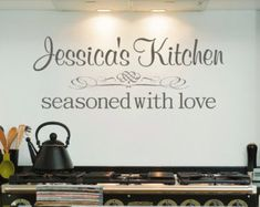 Items similar to Personalized Kitchen Decal, Kitchen Vinyl Decal, Personalized Wall Decal,SALE on Etsy