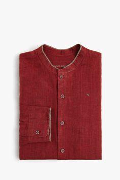 Camisa lino cuello mao | Adolfo Dominguez