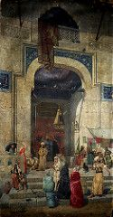 At the Mosque Door (1891) by Osman Hamdi Bey   Flickr - Photo Sharing!