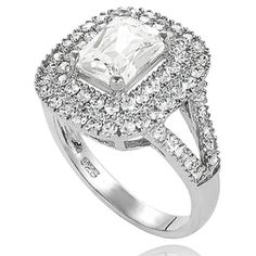 @Overstock.com - New! Tressa Sterling Silver Cubic Zirconia Bridal and Engagement Style Ring - Tressa bridal-style ring Sterling silver Click here for ring sizing guide http://www.overstock.com/Jewelry-Watches/New-Tressa-Sterling-Silver-Cubic-Zirconia-Bridal-and-Engagement-Style-Ring/7618995/product.html?CID=214117 CAD 43.35